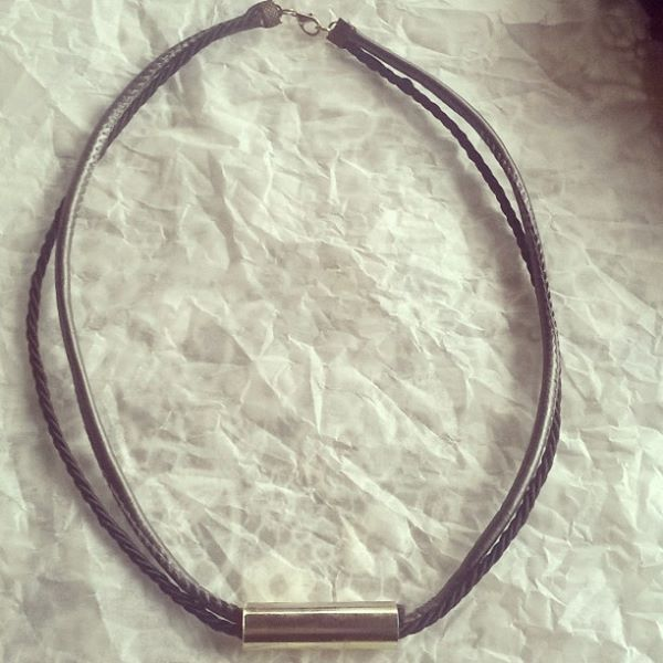 rope leather necklace