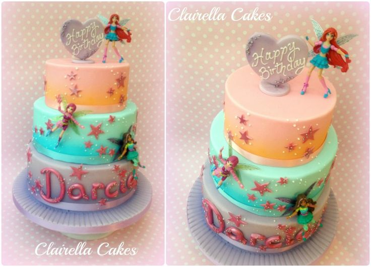 Airbrushed Winx Club Fairy Cake by Clairella Cakes