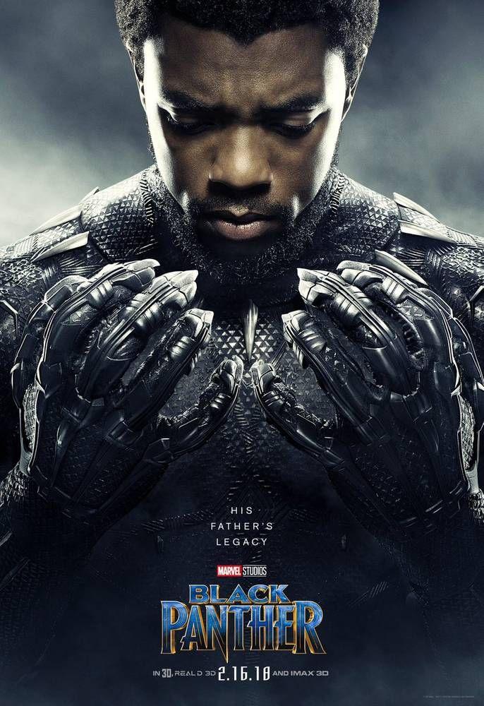 Pantera Negra Novos Posteres Belissimos Destacam Os Herois E