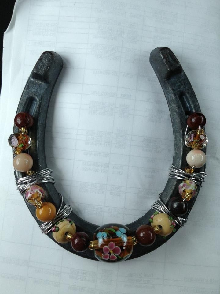 beads on a horseshoe, kid craft?