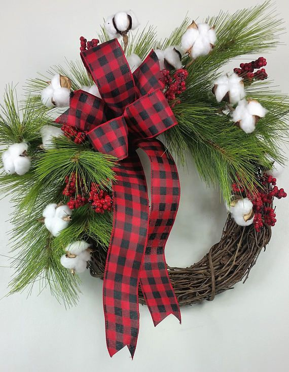Farmhouse Christmas wreath Fixer Upper Christmas wreath