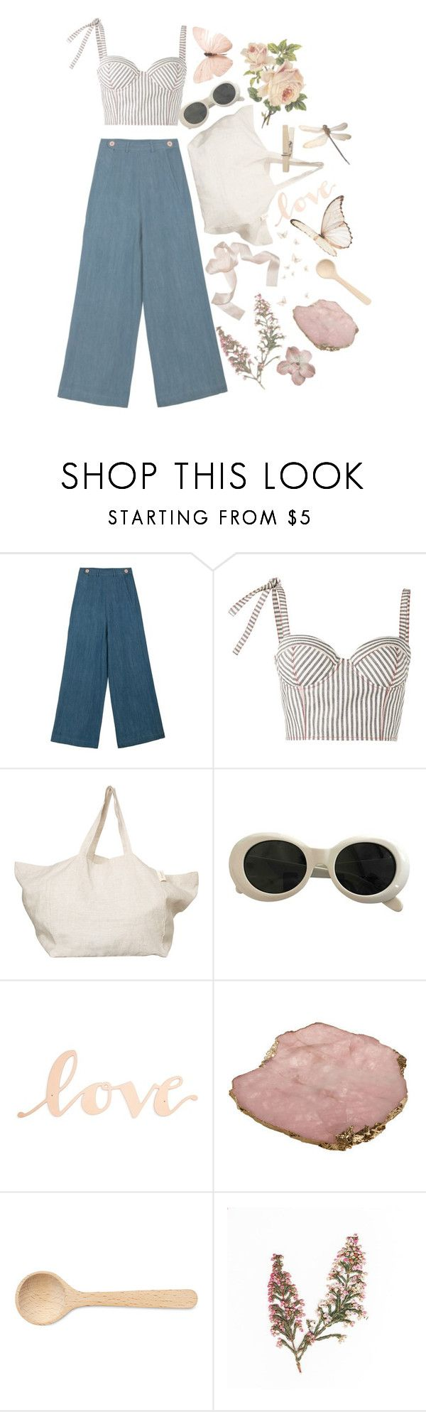 """""""Galway girl"""" by angel876 ❤ liked on Polyvore featuring MARA, Rosie Assoulin, The Beach People, Acne Studios, Primitives By Kathy, Kimberly McDonald and HAY"""