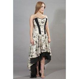 Robe Corset Gothique Victorien Romantique Valérie
