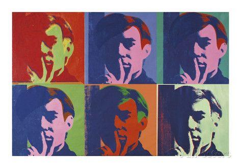 オールポスターズの アンディ・ウォーホル「A Set of Six Self-Portraits, c.1967」ジクレープリント
