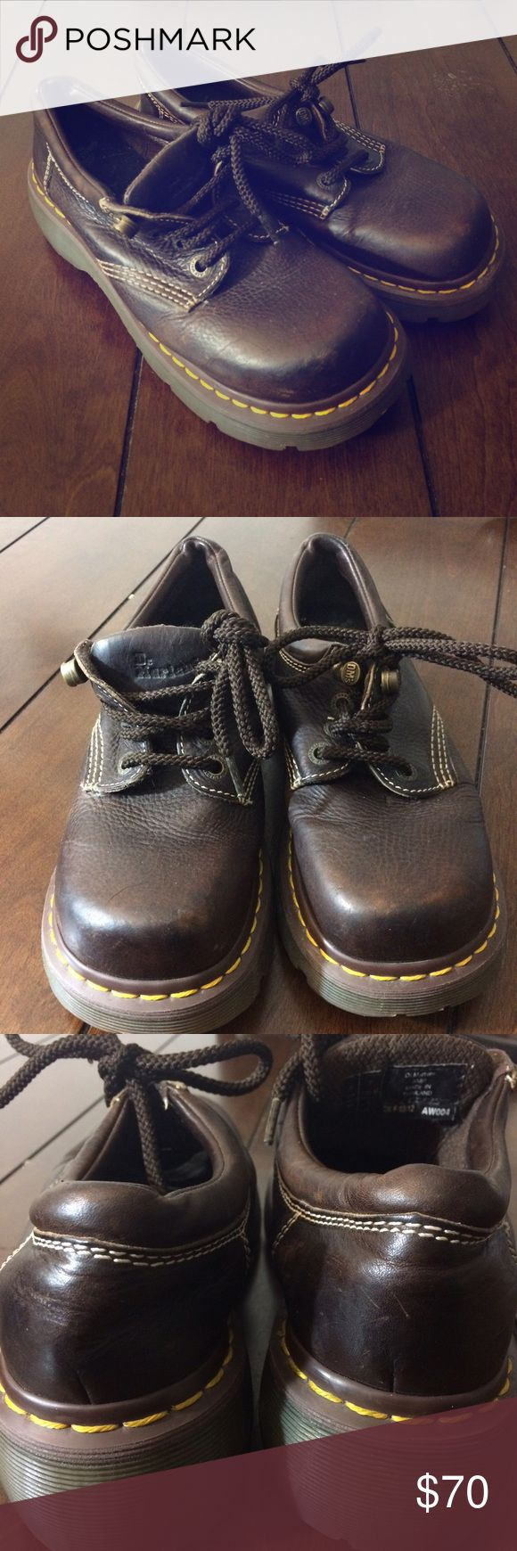 Doc Marten shoes Woman's size 8 brown dr. Marten shoes. Some light scuffing/wear. No structural damage. Dr. Martens Shoes Ankle Boots & Booties