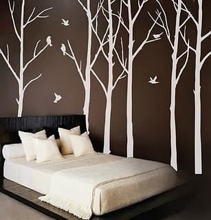 REALLY want to do this in either our bedroom or the living room wall (both brown walls)  By: WowWall Found: Moxie Fab World