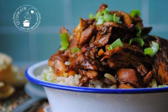 Indo pulled chicken (Nederlands en niet moeilijk recept)