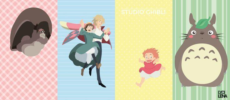 Studio Ghibli. Fanart. on Behance by:Lydilena