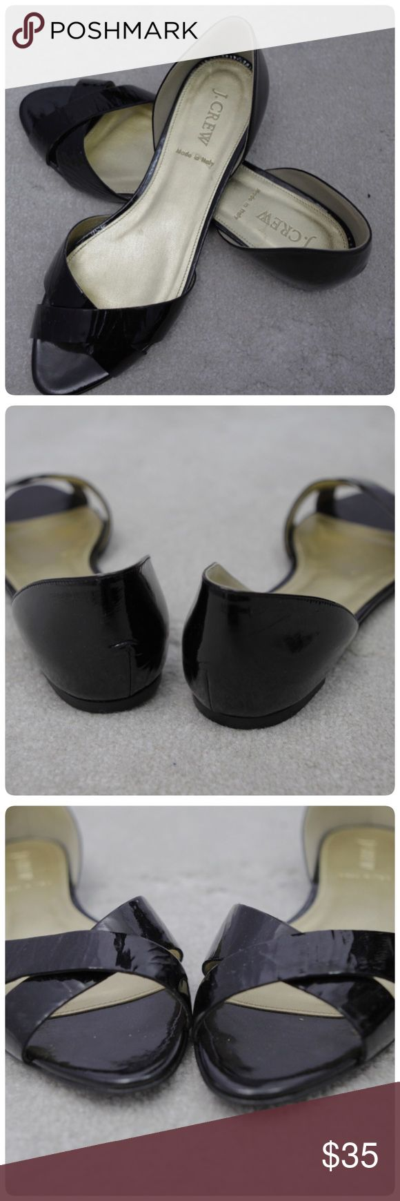 Brand New JCrew Black Flats Open Toe Brand new J.Crew open toe flats size 8.5  This does not have an original box. Will be mailed with or without shoes box J.Crew Factory Shoes Flats & Loafers