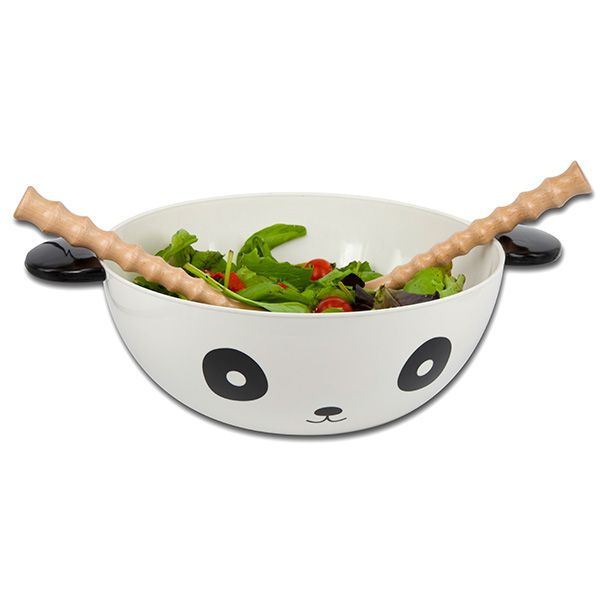 Embrace your wild side in the kitchen with the Panda bowl. Great for salads and meal prep. Accompanied with two bamboo-style wooden spoons, the panda bowl adds character to meal times! #ApolloBox #panda #kidsmeal #kidsbowl #cutebowl #bamboo #