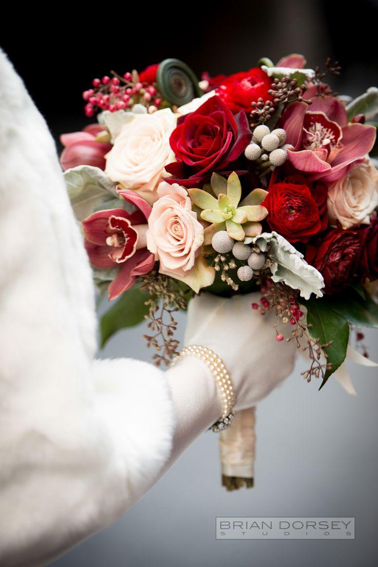 Stunning winter wedding bouquet.