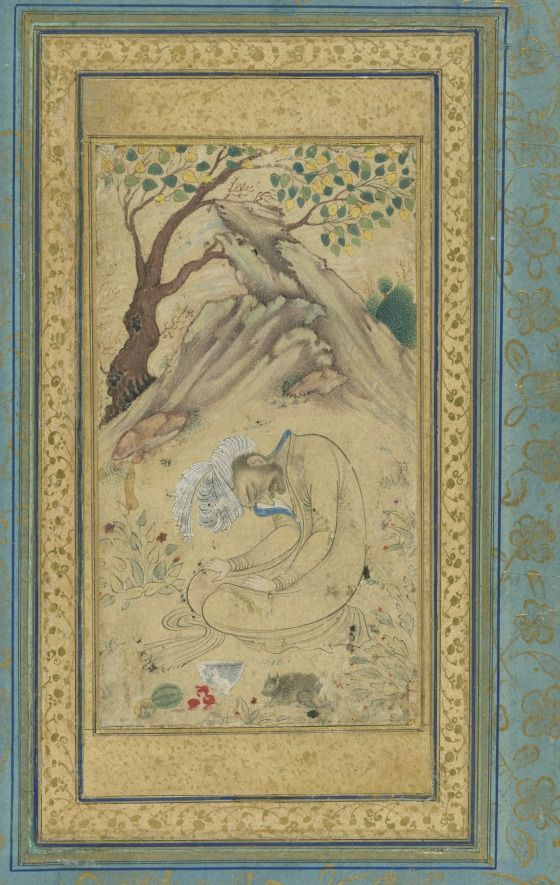 A Sufi in a LandscapeIran, Isfahan, circa 1650-1660Manuscripts; foliosInk and color washes on paper10 13/16 × 6 13/16 in.