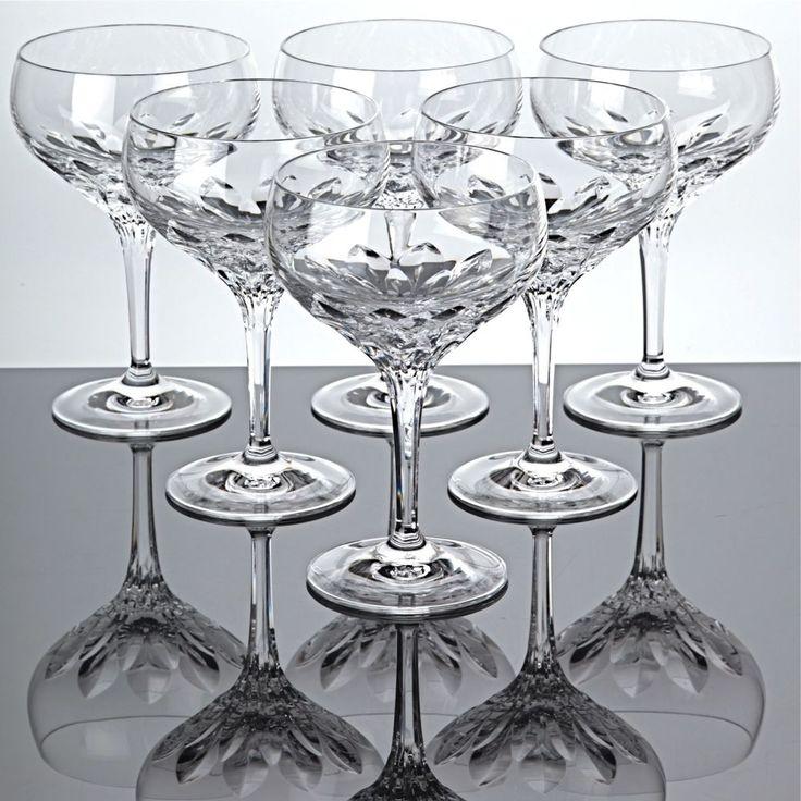 6 Sektschalen Nachtmann Diamant Kristall Bleikristall Gläser Sektgläser
