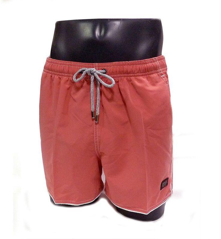 Bañador para hombre de Massana. Nuevo modelo, de corte clásico, secado rapido y liso en color salmón-rosa. Más modelos exclusivos en www.varelaintimo.com