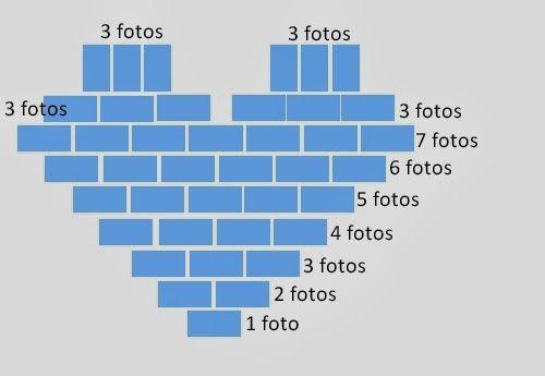 Como hacer un corazón de fotos