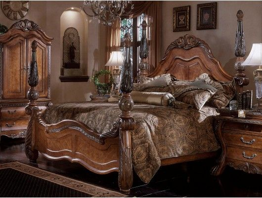 Fresh AICO Eden Poster Bedroom Set in Amaretto This is my dream bedroom set Idea - Fresh King Bedroom Sets Clearance Ideas
