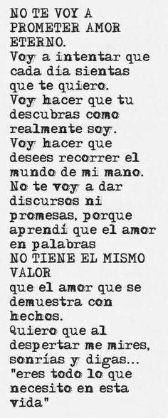 Amor eterno. Sin promesas, con actos #Cartasdeamor