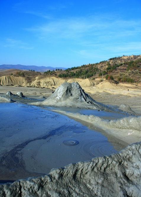 Berca volcanoes, which are located in Buzau county, in S-E Romania.