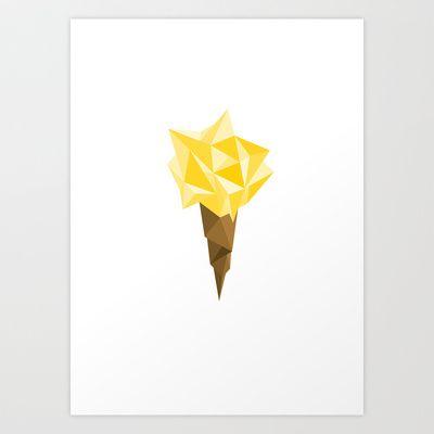 Ice Cream 3 Art Print by Klaff Design - $16.00