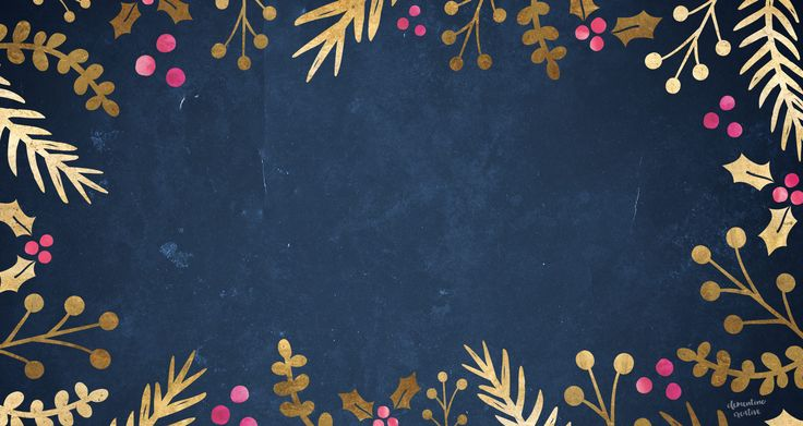 FREE FESTIVE WALLPAPER: FOIL FOLIAGE