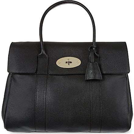 MULBERRY Bayswater glossy goat leather bag (Black