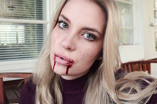 Halloween meikkitutoriaali vampire diaries