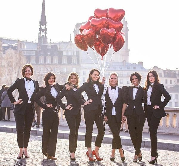 Go for a masculine black tie fancy dress theme for your hen party! (Bonus appearance by Martine McCutcheon)