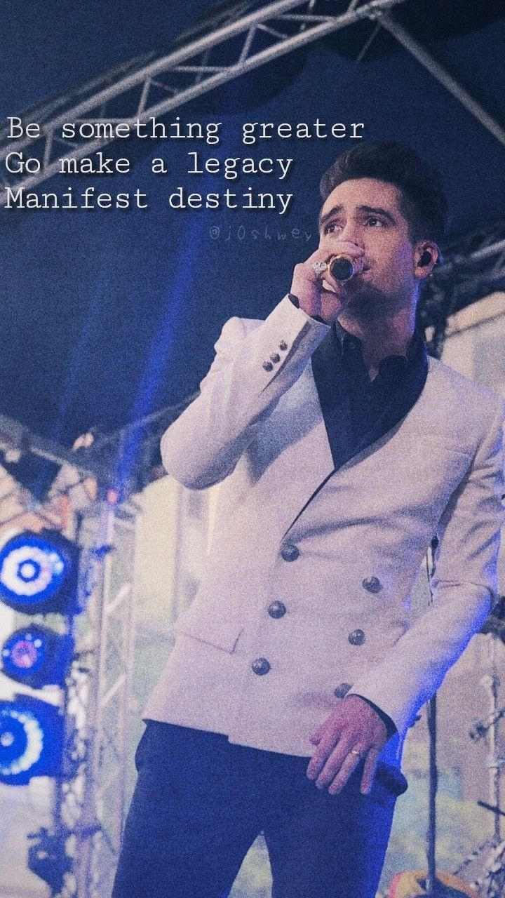 Brendon Urie Wallpaper Credit To The Amazing Editor Panic At The Disco Lyrics Brendon Urie Brendon Urie Quotes