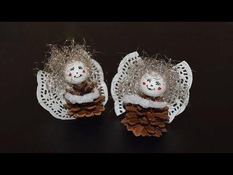 Engel aus Zapfen basteln - YouTube