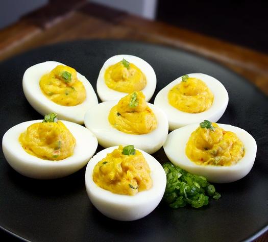 Spicy Wasabi Deviled Eggs . . . | Deviled Egg Recipes | Pinterest