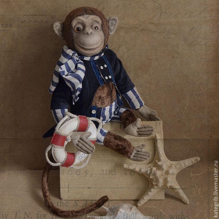 Купить Обезьян Жак! - коричневый, тедди обезьяна, обезьяна тедди, teddy, teddy monkey