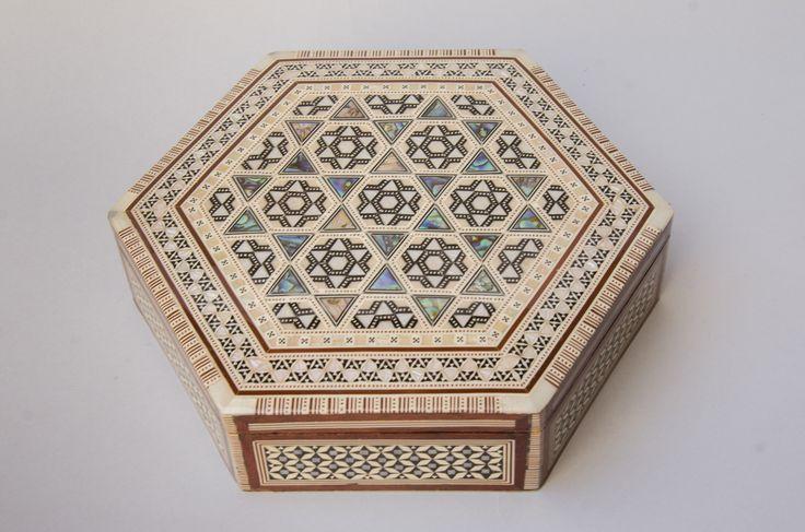 HEXAGON JEWELRY BOX (122) - Jewel of the Nile