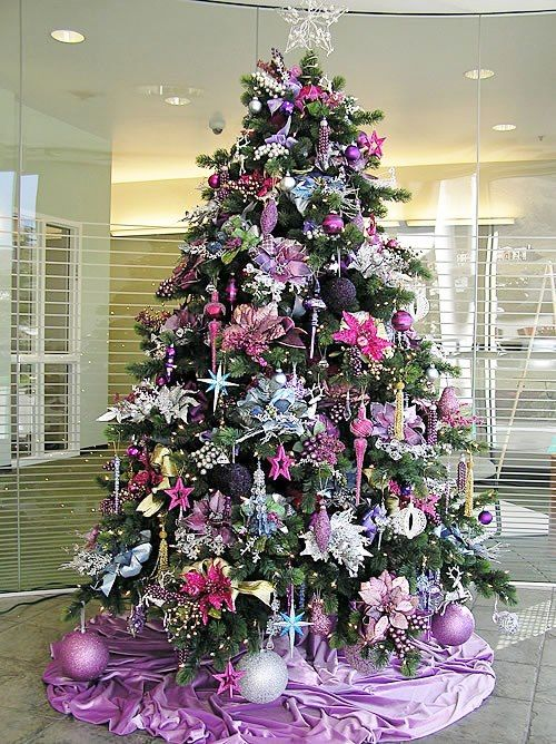 1095 best Christmas Trees/Ornaments/Wreaths images on ... Christmas Trees Decorated Purple