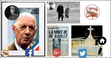 09/11 46/2015 07:10:21 - #Histoire, #timeline, #chronologie ⌛ une page d'histoire : le lundi 9 novembre 1970,Charles #deGaulle meurt d'une rupture d'anévrisme dans sa demeure de #Colombey-les-Deux-églises.-