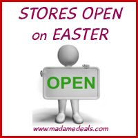 Stores open on Easter Need some last minute Easter shopping? Don't worry because many drug stores and some grocery will be open but take note because some are only open for limited hours. Below is our list of what's open and what's closed on Easter. Stores open on Easter Albertson's – OPEN Aldi – closed...Read More »