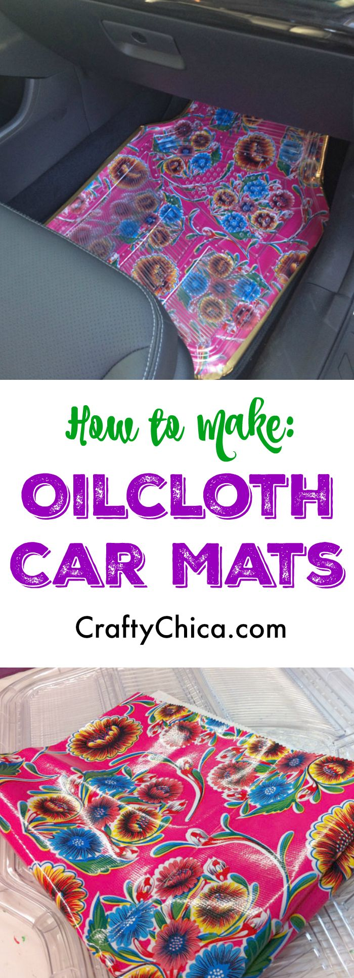 Make oilcloth car mats by Crafty Chica                              …