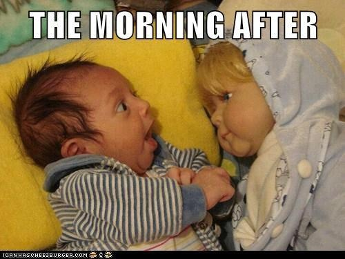 The morning after...