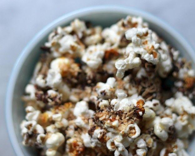 samoa popcorn ~ Use puff corn and candiquik?