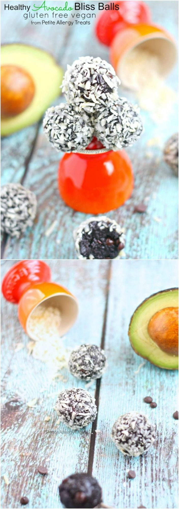 Healthy Chocolate Avocado Bliss Balls are the perfect healthy snack that are gluten free and vegan.