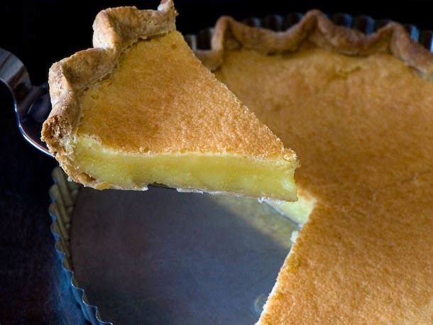 "Chess Pie  -  Until I moved to Kentucky I had no idea that a ""sugar pie"" was an actual thing, much less a southern thing. Now I know what Paula Dean is diabetic cause this pie is so good that despite better judgement you'll want to make it an all the time pie and not just a Thanksgiving staple."