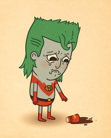 Artist Mike Mitchell takes some of the most-loved pop culture characters and puts them in ironic situations. : Captain Planet