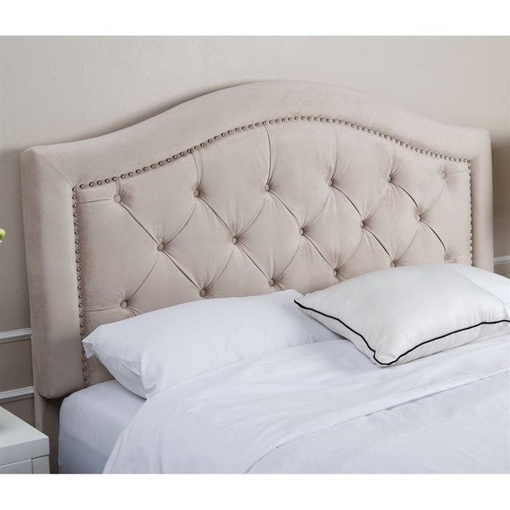 Lowest price online on all Abbyson Living Ternton Tufted Velvet King California King Headboard - BR-HB-L001A-IVY-KC