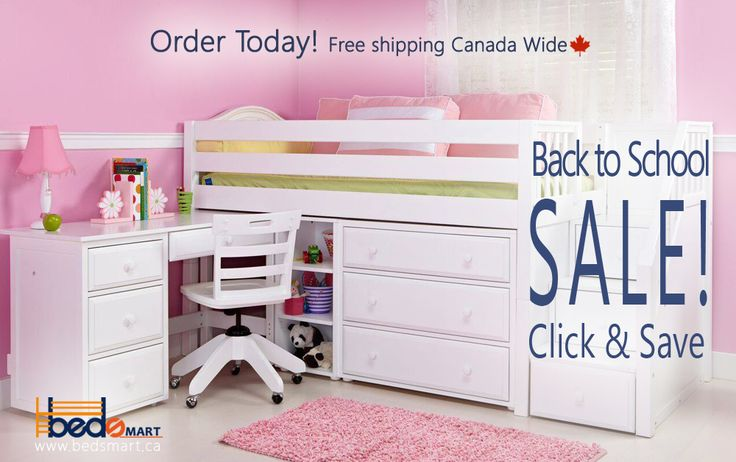 Click & Save on all Maxtrix Furniture. It's not too soon to get ready for School! choose the loft bed, storage and desk that properly fits your Budget & Room  See all bedsmart kids furniture on www.bedsmart.ca