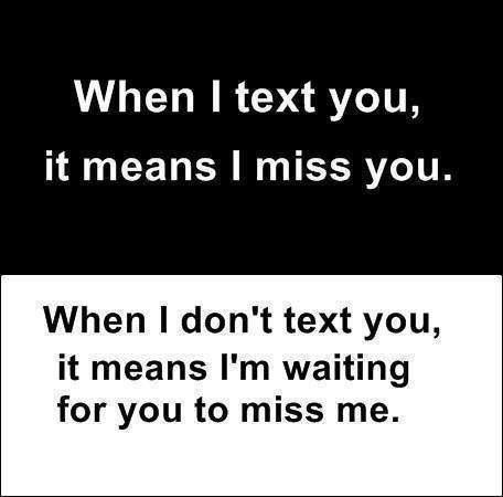 Miss you text