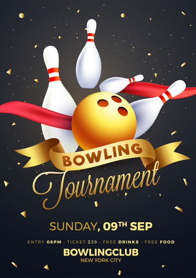 Bowling Tournament Poster Flyer Or Banner Design Bowling Tournament Banner Design Flyer
