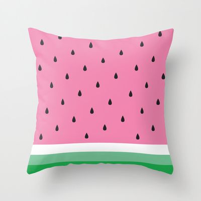 Watermelon Throw Pillow by Anna Lindner - $20.00