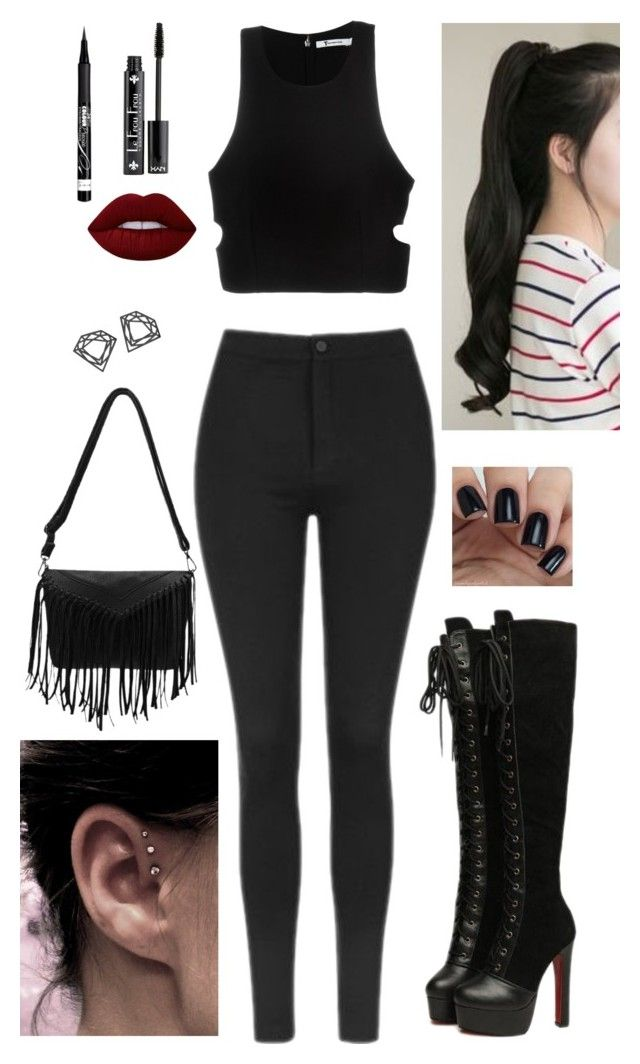 """Street Style"" by oken-demir on Polyvore featuring GABALNARA, NYX, Topshop, Lime Crime, Rimmel, Myia Bonner and T By Alexander Wang"