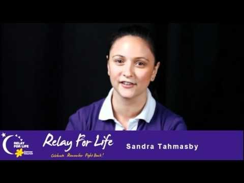 Sandra, Relay for Life. Interview with Elizabeth Walton
