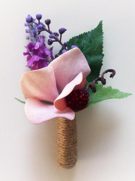 Men's Wedding Accessories – 'Blackberry Dream' - Groom's Boutonniere – a unique product by FOLKflor on DaWanda