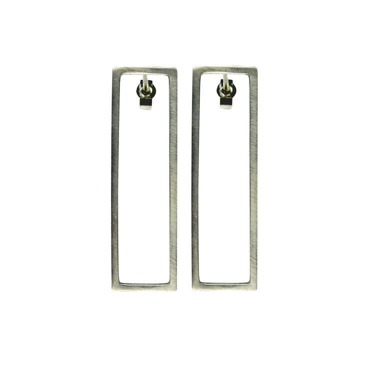Rectangle Earrings Silver